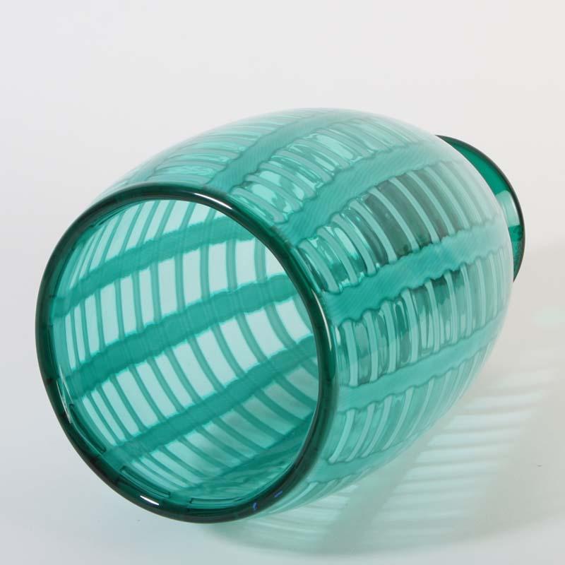 cenedese murano glas sch ne vase auf fu gr n klar. Black Bedroom Furniture Sets. Home Design Ideas