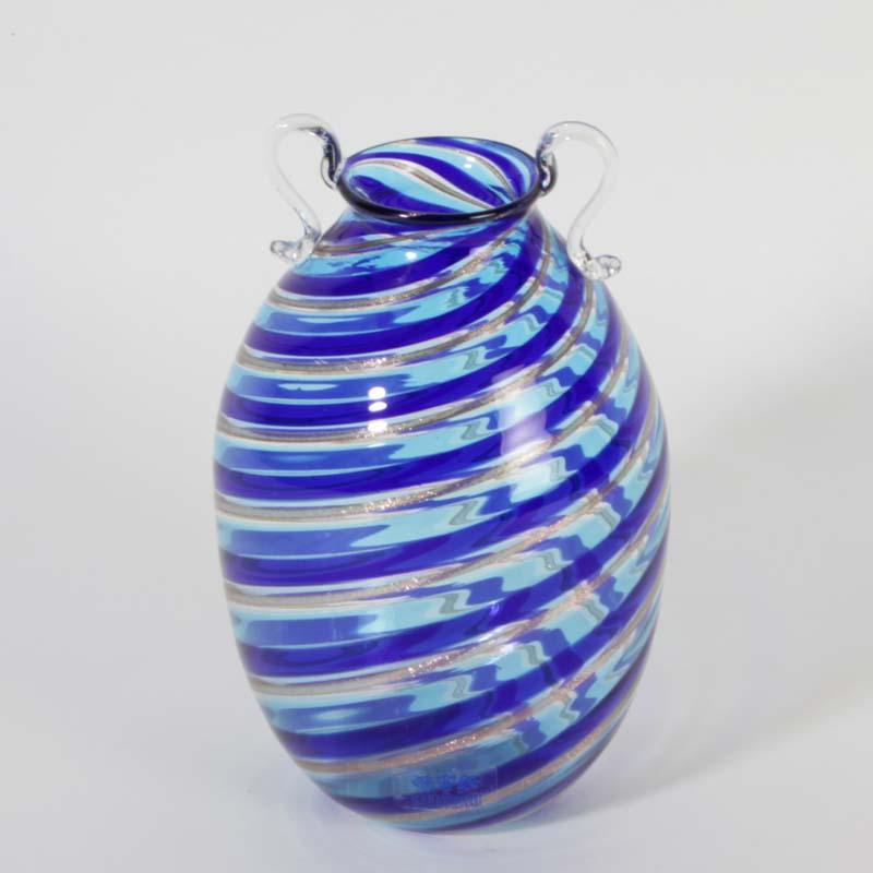 moderne murano glas vase nostos 2007 signiert fast schwarz. Black Bedroom Furniture Sets. Home Design Ideas